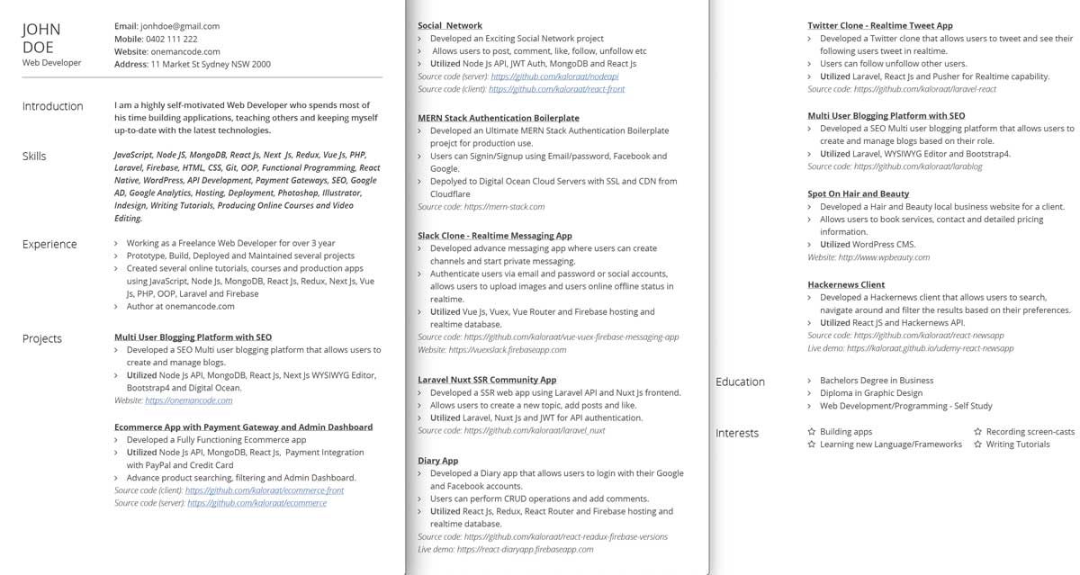 How to write Web Developer Resume that guarantees...